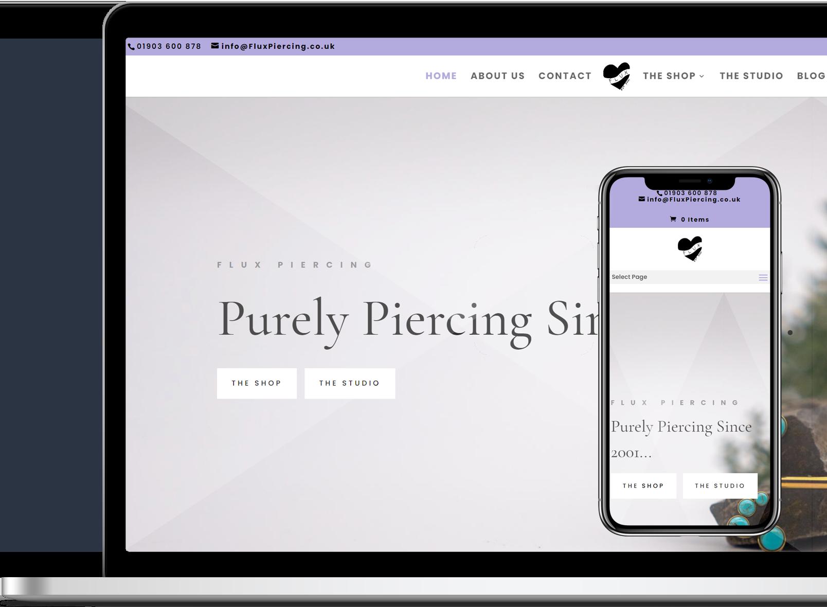 Website Portfolio: Flux Piercing