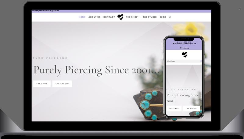 Website Development - Flux Piercing
