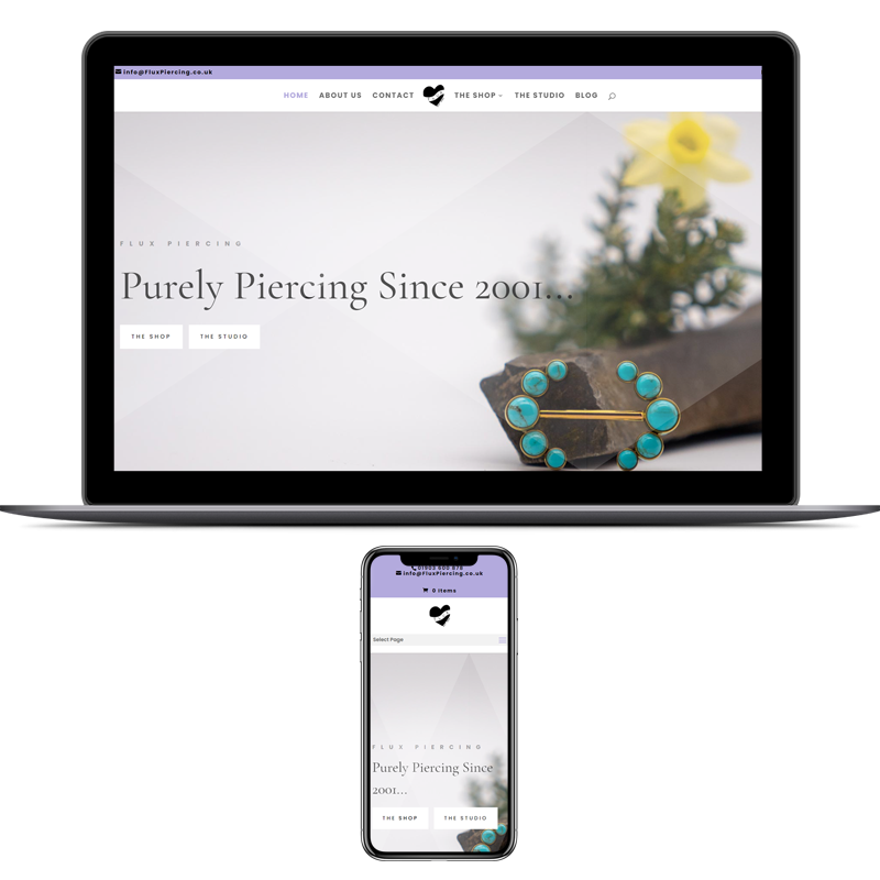 Website Development - Flux Piercing
