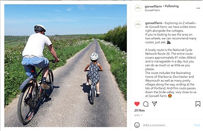 Gorwell Farm Instagram Post