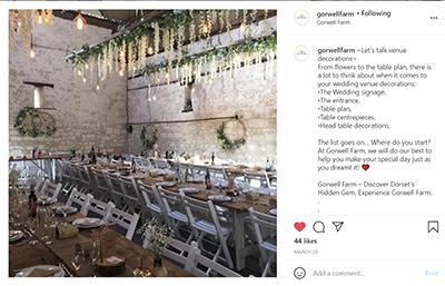 Gorwell Farm Instagram - Inside the Barn