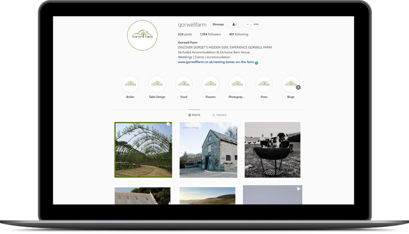 Social Media - Gorwell Farm